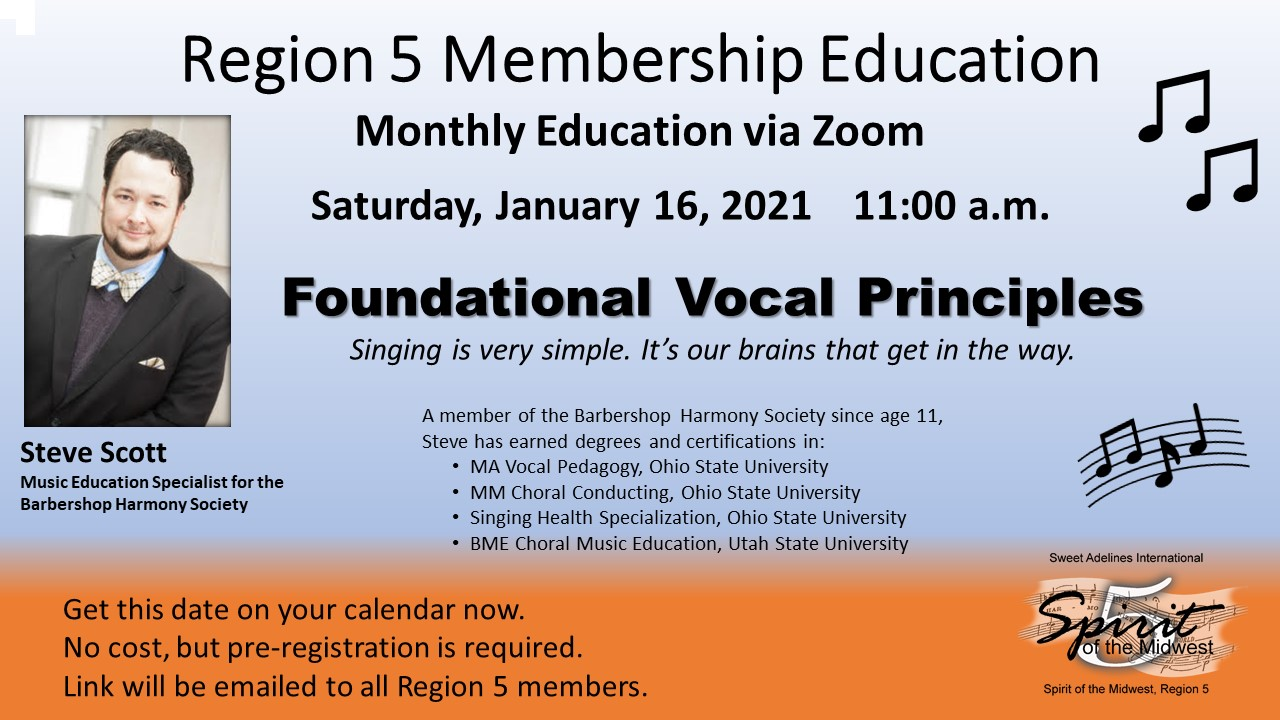 "Steve Scott  - ""Foundational Vocal Principles"""